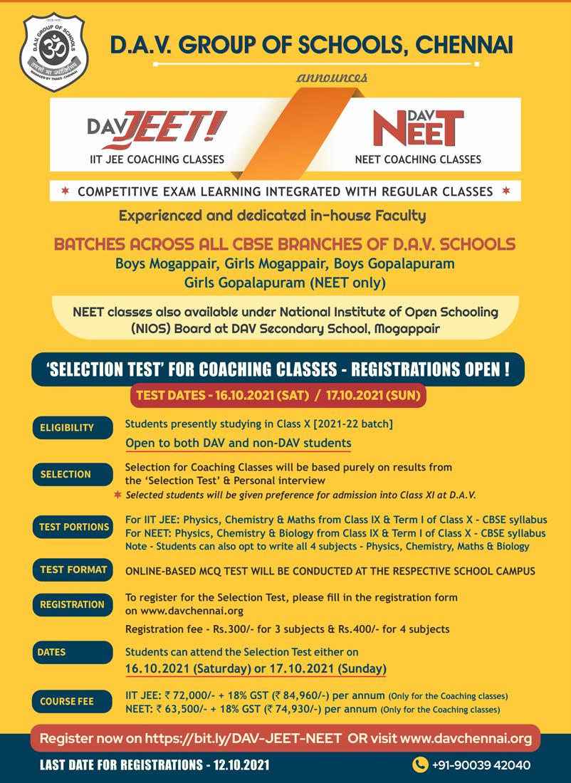 NEET and IIT-JEE